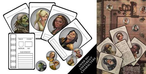 NPC Cards by egilthompson