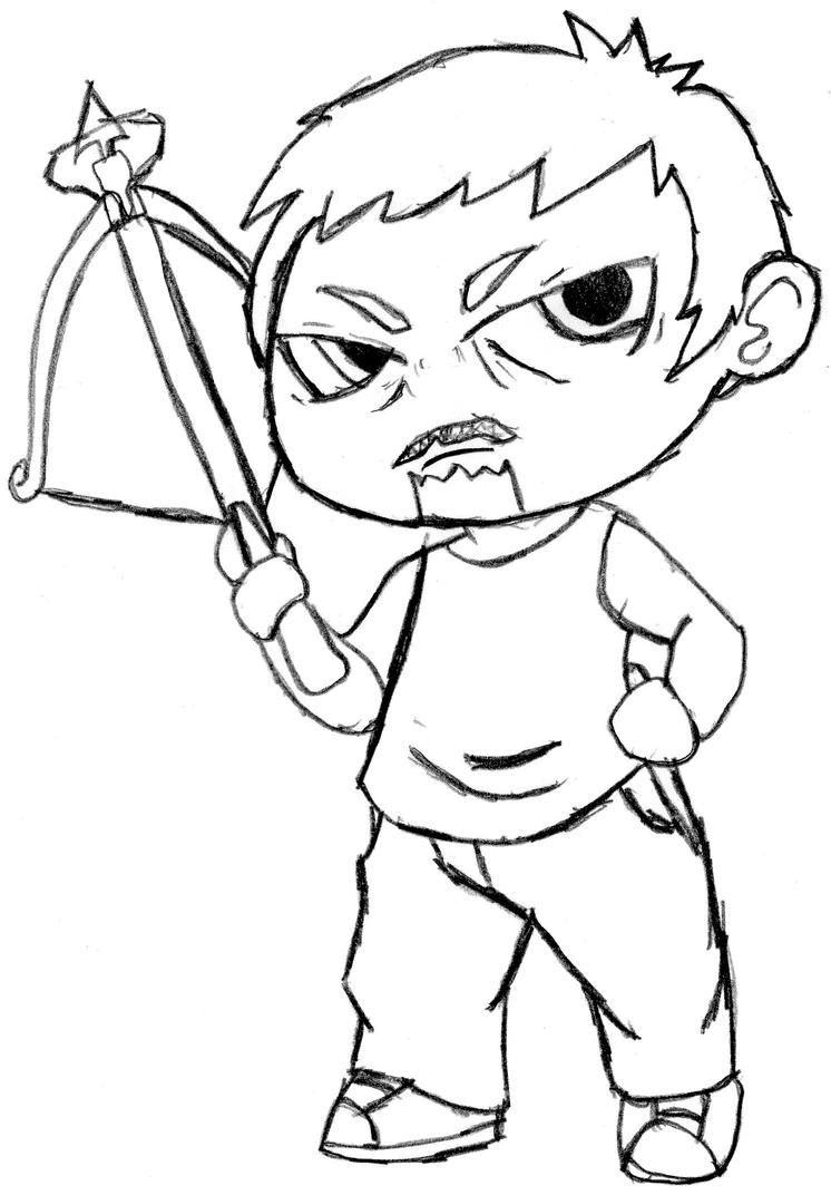 Walking dead chibi coloring pages coloring pages for The walking dead coloring pages