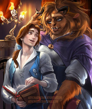 Male! Belle x Reader - The Bookshop Accouter by KittyPhantomhive14