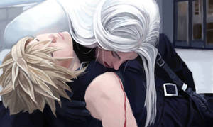 Sephiroth and Cloud by sjdx