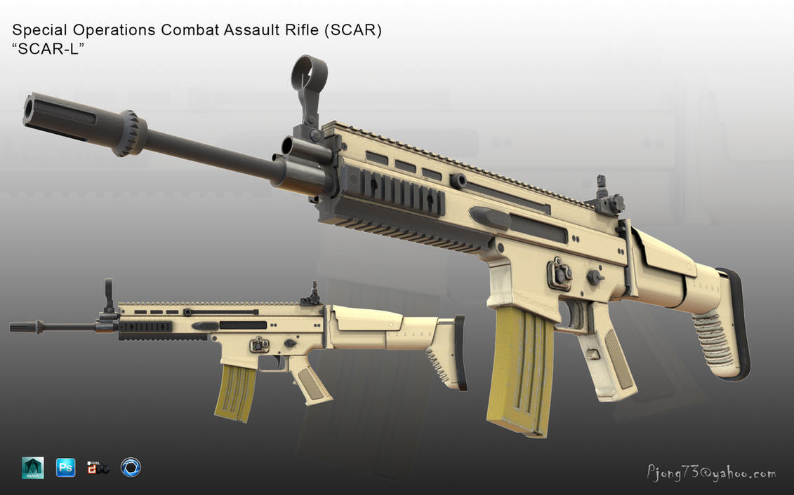 SCAR-L by Pidiong