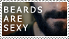 Beards Are Sexy Stamp by Rococokara
