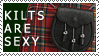 Kilts Are Sexy Stamp by Rococokara