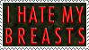 I Hate My Breasts Stamp by Rococokara