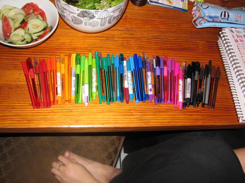 I Love My Pens by Rococokara