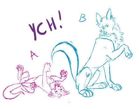 Grouch and Pup: Feral YCH Auction