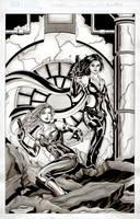 X-Girl and Elayne Inkwash by Elisa-Feliz