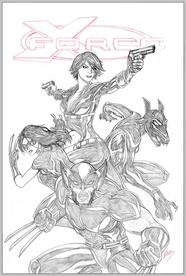 X-Force Cover by Elisa-Feliz