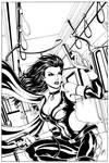Dark X-girl Cover - Inks by Elisa-Feliz