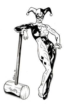 Harley Quinn Commission - Inks