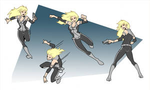 X-Girl -Animation Action Poses