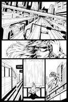 Codename: X-Girl page 01 Inks by Elisa-Feliz