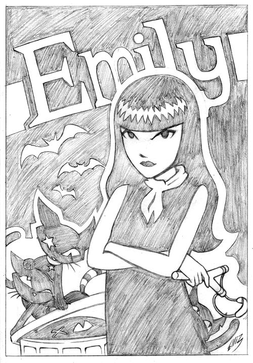 emily strange coloring pages - photo#23