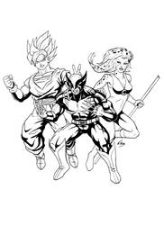 FF Flyer characters - Inks by Elisa-Feliz