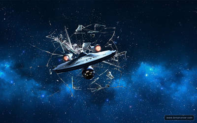Startrek Spaceship Enterprise Wallpaper 1280x800 by mr-doe