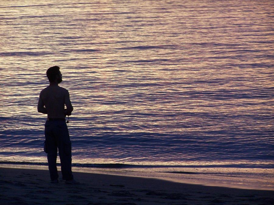 Man facing the sea by faellou on DeviantArt