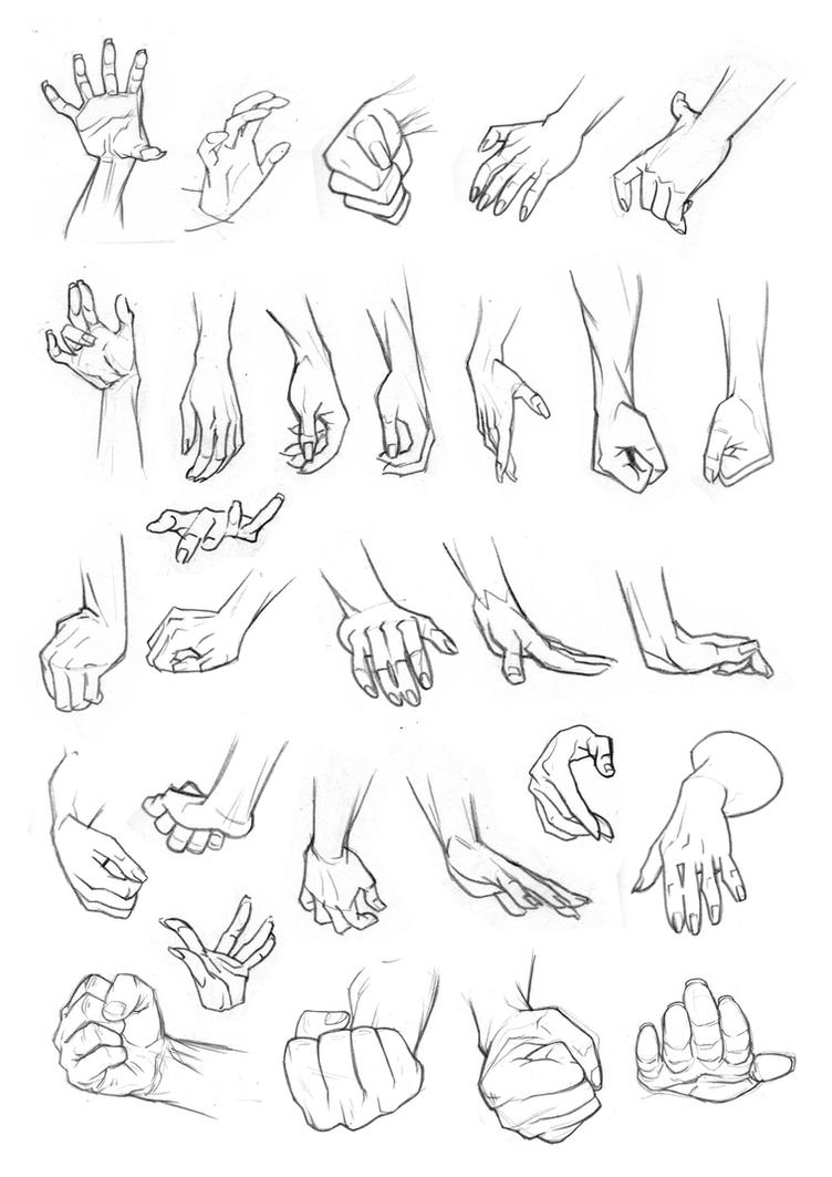 Sketchbook studies: Hands by Bambs79