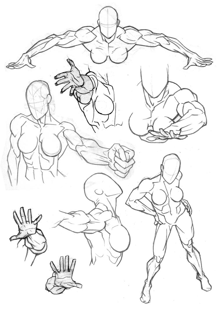 how to draw a manga male arms