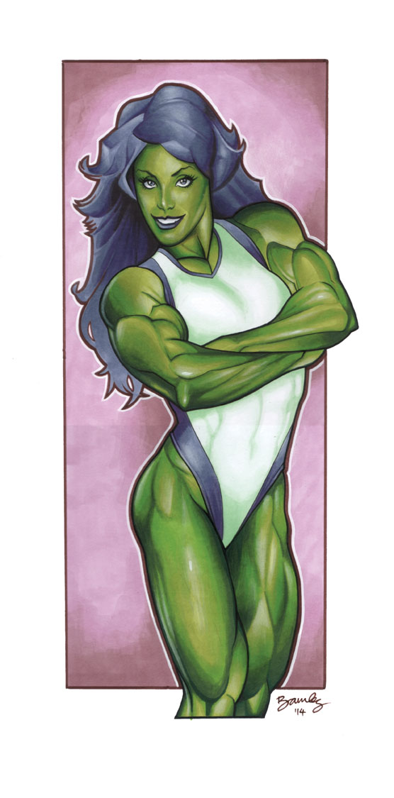 She-Hulk Marker Pic by Bambs79