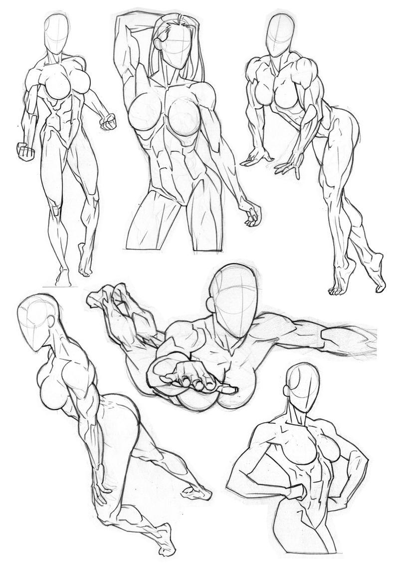 how to draw superhero poses
