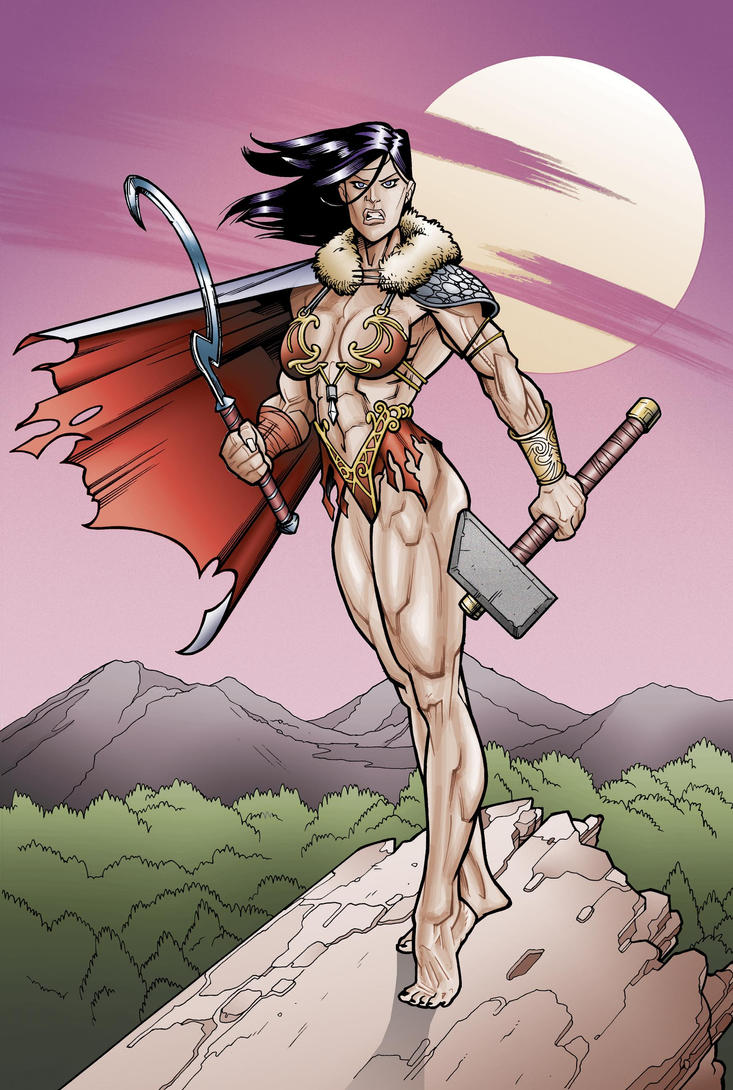 Soviet Superwoman Barbarian Elseworlds by Bambs79