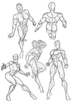Rob Anatomy Sketchbook Girls 2
