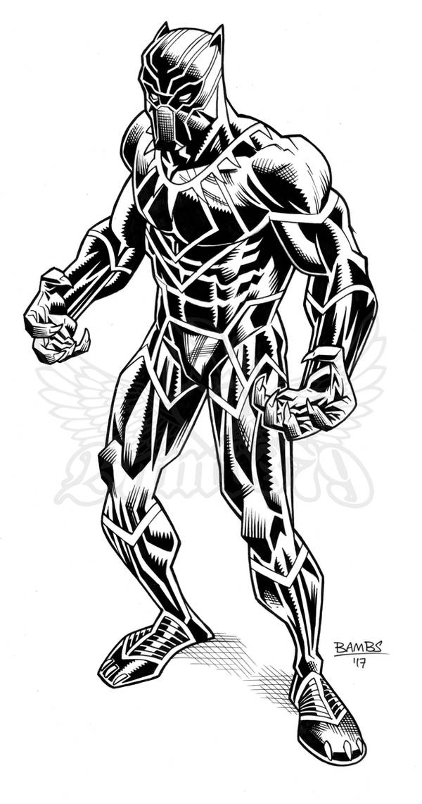 Black Panther Inks by Bambs79