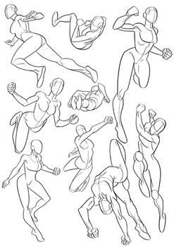 Sketchbook - Flying Superheroines
