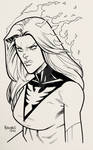 Convention Style Sketch - Dark Phoenix