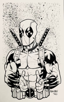 Convention Style Sketch - Deadpool