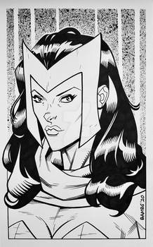 Convention Style Sketch - Scarlet Witch