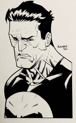 Convention Style Sketch - Punisher