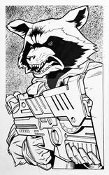 Convention Style Sketch - Rocket Raccoon