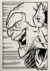 Sketch Card - Green Goblin