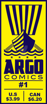 Argo Comics Logo and Ticket Box