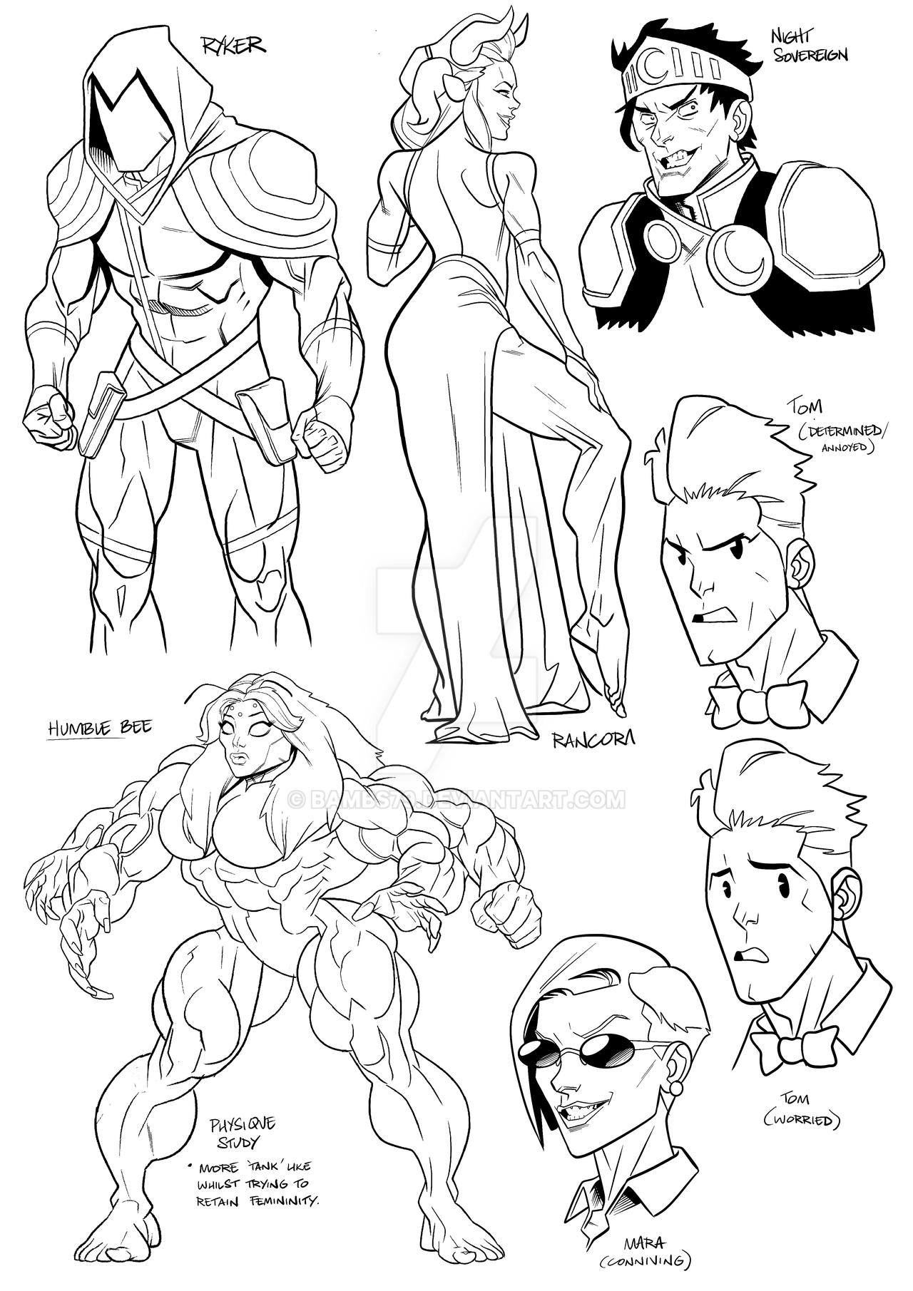 Toonman Character Sketches