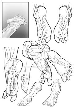 Feet Sketches by Bambs79