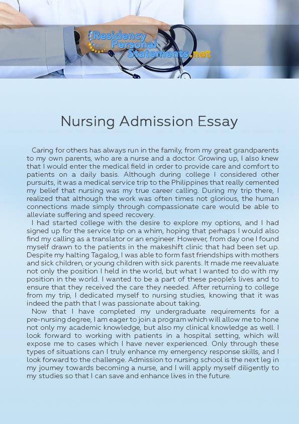 Nursing acceptance essay descriptive essay on the beach