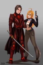 Shadowrun - Ashton and Delphine by BloodAngelsCaptain1