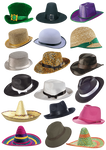 18 Hats PNG