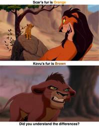 Comparison of Scar and Kovu