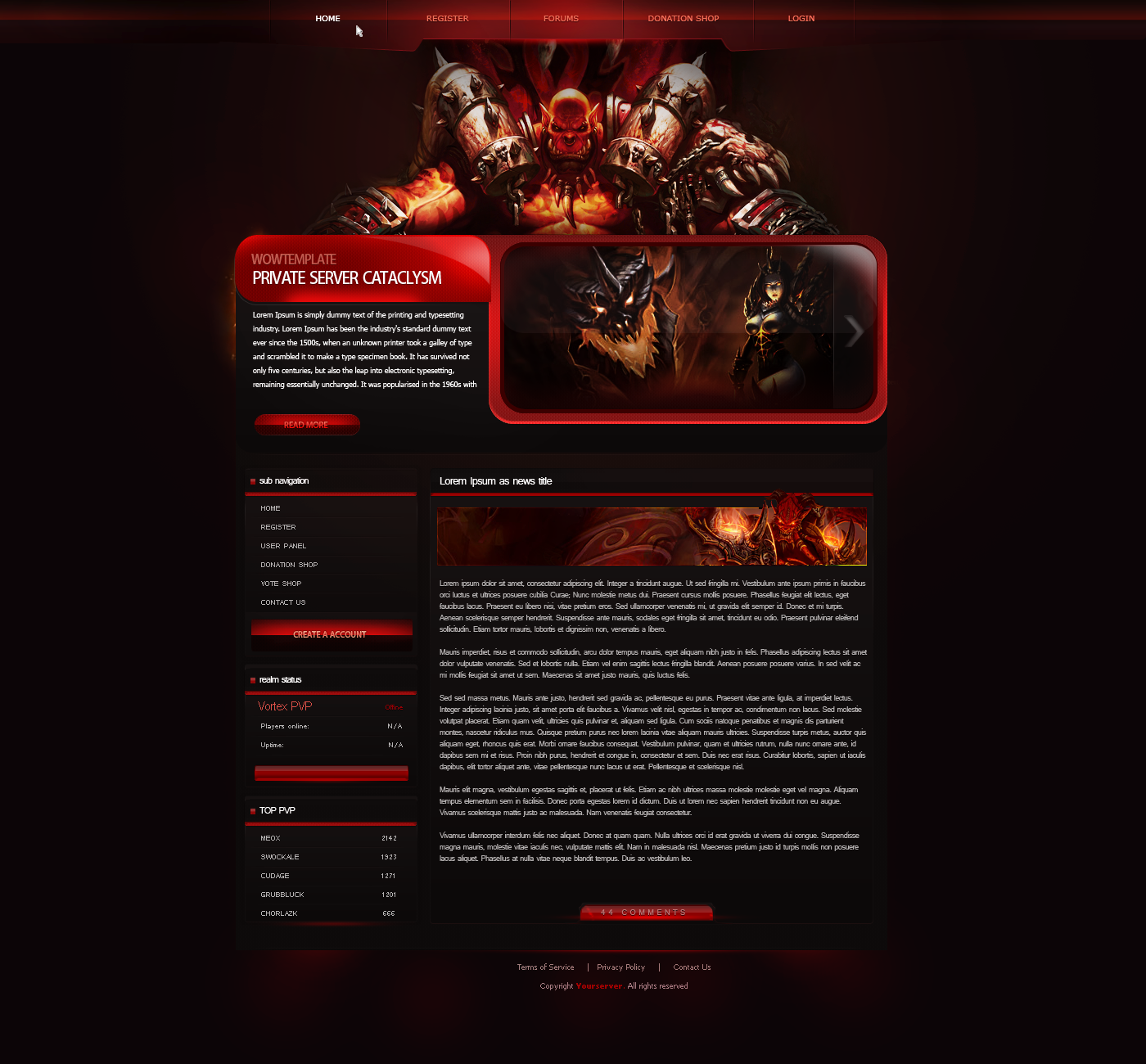 Clan Website Design