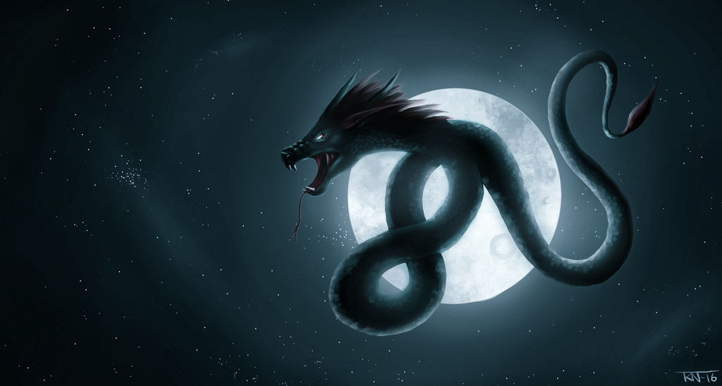 Dragon in the night by trinemusen1