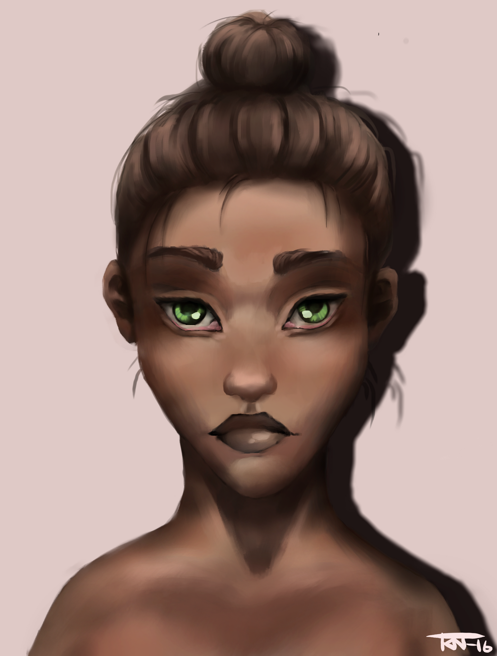 Face/skin practice by trinemusen1