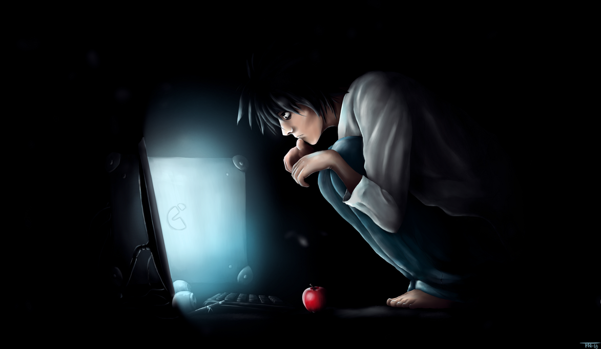 L (Death note) by trinemusen1