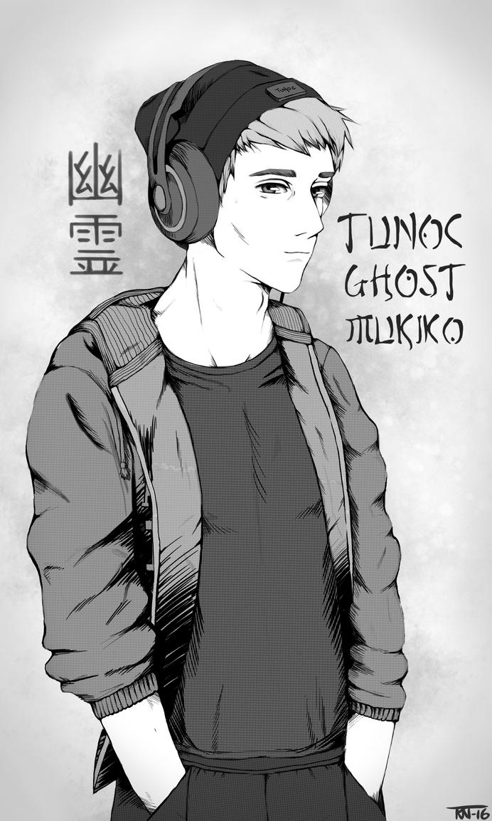 Tunoc Ghost Mukiko (Black and white version) by trinemusen1