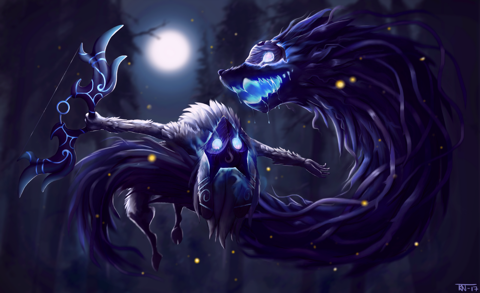 How To Paint A Mural On A Wall Kindred League Of Legends Fanart By Trinemusen1 On