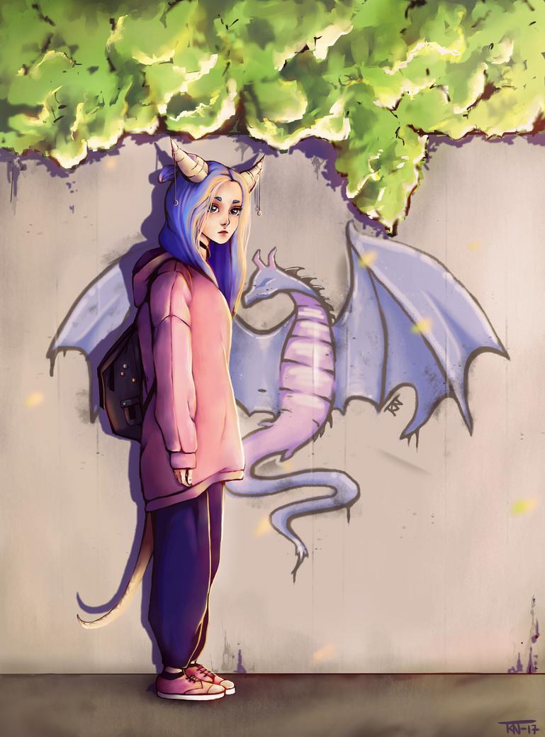 Dragon girl by trinemusen1
