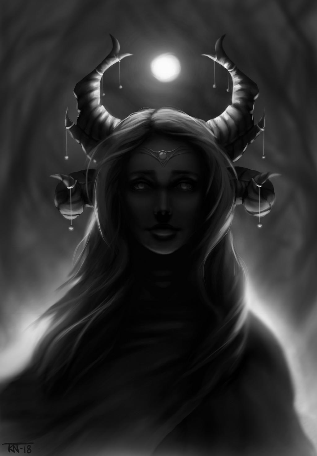 Lunar dragon queen by trinemusen1