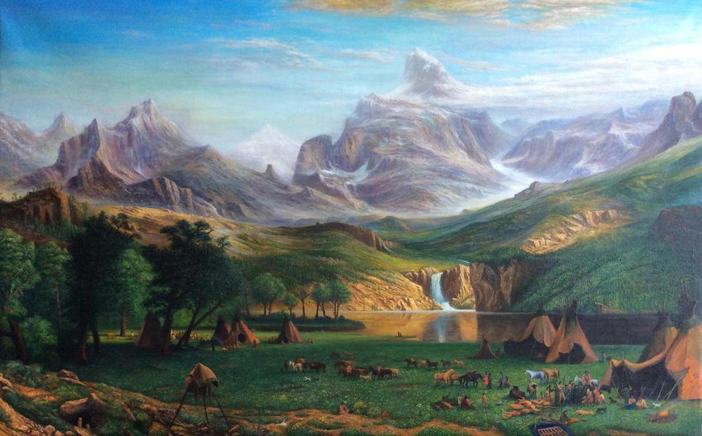 Rocky Mountain , Lander's Peak - Albert bierstadt by fuyukikun